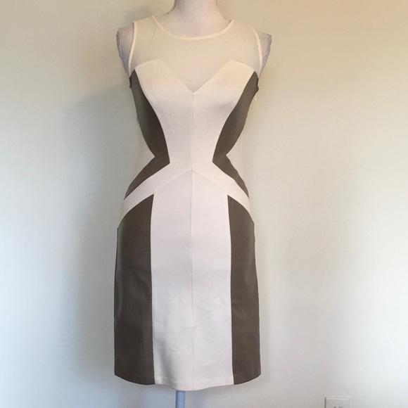 Gianni Bini Dresses & Skirts - Gianni Bini Faux Leather Body Con Dress Sz 0